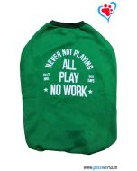 "DOGEEZ Winter Dog Tshirt "" * NO WORK"" Green 24 inches"