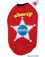 "DOG EEZ Dog Tshirt ""Sheriff"" Red 22 inches"