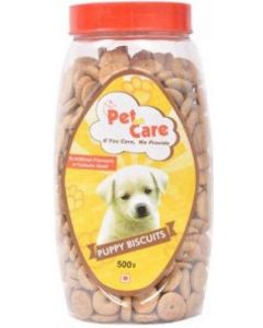 Pet en Care Non-Veg Puppy Biscuits Jar 500 gms