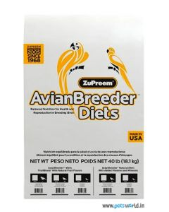 ZuPreem Avian Breeder Diet Natural with Added Vitamins and Minerals Medium & Large Parrots 18.14 Kg