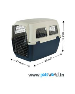IATA Approved Fibre Flight Dog Crate - LxBxH : 62.5 x 52.5 x 45 cm (25x21x18 inch)