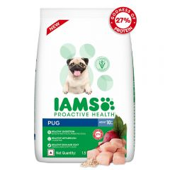 IAMS Proactive Health for Adult (1.5+ Years) Pug Premium Dry Dog Food, 1.5 Kg