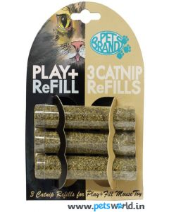 Pet Brands Play and Fill Refillable 3 Catnip Refills For Cats