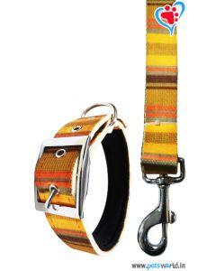 Petsworld Printed Dog Collar And Leash 1