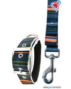 Petsworld Printed Dog Collar And Leash 2