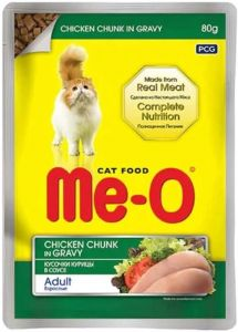 Me-O Pouch Cat Food Chicken Chunk In Gravy 80 gms