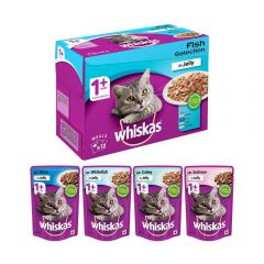 Whiskas Adult Cat Food Fish Selection Gravy 85 gm 12 Pack