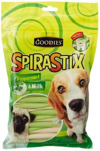 Goodies Dog Treats SpiraStix Peppermint And Milk 450 gm