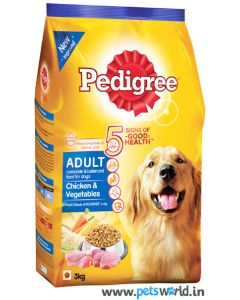 Pedigree Chicken and Vegetable Adult Dog Food 3 Kg