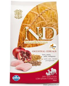 Farmina N&D Low Grain Adult Chicken & Pomegranate medium & maxi Dog Food 12 kg