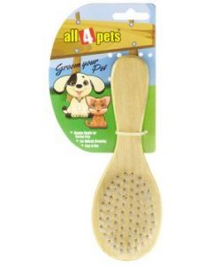 All4Pets Soft Wooden Brush L
