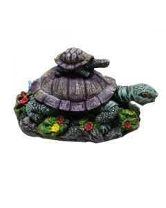 Aquatic Two Turtle Stone For Aquarium Decoration