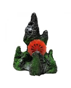 Aquatic Green Sculpture Bubble Releasing Stone For Aquarium Decoration