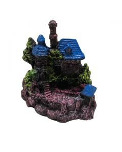 Aquatic Blue Ancient House Stone For Aquarium Decoration