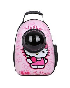 Petsworld Astronaut Pet Cat Dog Puppy Carrier Travel Bag Space Capsule Backpack Breathable (Cartoon Pink)