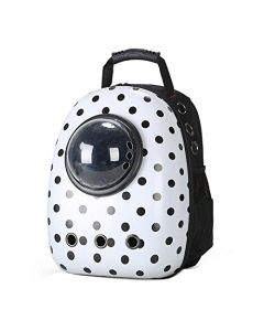 Petsworld Astronaut Pet Cat Dog Puppy Carrier Travel Bag Space Capsule Backpack Breathable Dotted