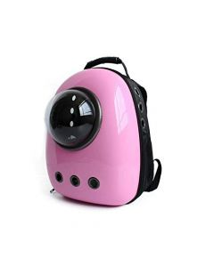 Petsworld Astronaut Pet Cat Dog Puppy Carrier Travel Bag Space Capsule Backpack Breathable (Solid Pink)