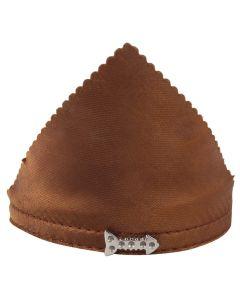 Petsworld Adjustable Solid Colour Bandana Scarf Collar Neckerchief for Puppies & Cats - Brown