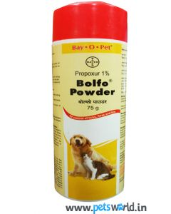 Bayer Bolfo Anti Tick & Flea Powder for Dog & Cat 75 gm