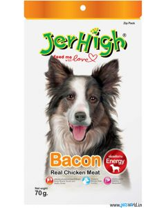 Jerhigh Dog Treats Bacon 70 gms