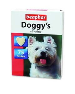 Beaphar Doggy's + Biotine Supplements For Dogs 75 tabs