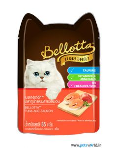 Bellotta Tuna And Salmon Gravy Cat Food 85 gms