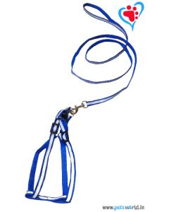 Petsworld High Visibilty Puppy Harness (Blue)