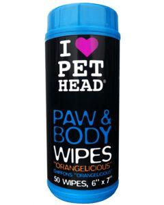 Pet Head Paw & Body Wipes 50 Wipes