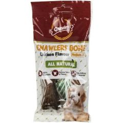 Gnawlers Bone Chicken Flavour Medium 2 Pcs ( All Natural)