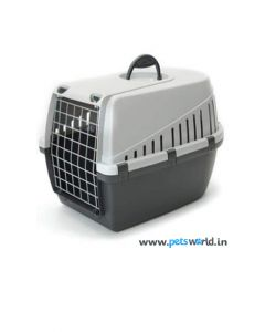 Savic Dog Carrier Trotter 2 Dark Grey/Light Grey Small L x W x H : 55 x 37.5 x  32.5  cm  (22 x 15 x 13 inch)