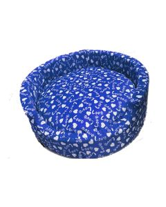 Petsworld Bucket Bed For Dog Love Blue Medium