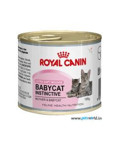 Royal Canin Baby Cat  Instinctive Ultra Soft Mousse For Mother and Baby Cat 195 gms