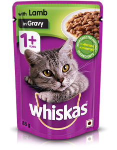Whiskas Adult Cat Food Lamb in Jelly 85 gm 12 Pack