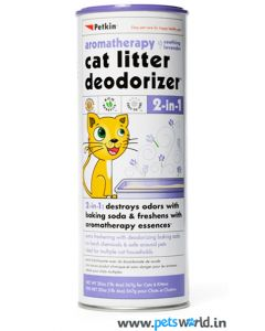Petkin 2 in 1 Litter Deodorizer Lavender For Cats 567 gms