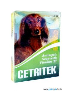 All4Pets Cetritek Anti Tick and Flea Antiseptic Soap 75 gms
