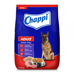 Chappi Adult Dry Dog Food, Chicken & Rice, 8kg