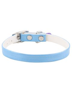 Petsworld High Quality Shining Colourful Adjustable Soft Collar for Puppies & Cats - Blue