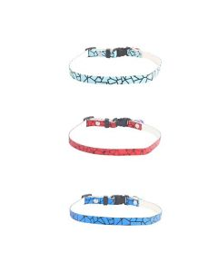 Petsworld High Quality Pet Soft Adjustable Solid Colour Shining Collar Combo for Puppy - Cats - Kitten