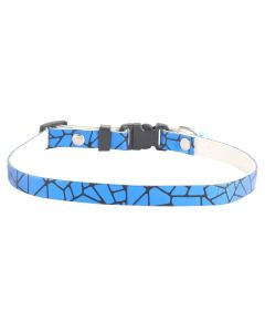 Petsworld High Quality Pet Soft Adjustable Solid Colour Shining Collar for Puppy - Cats - Kitten Blue