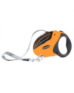 Petsworld Cool Buo Retractable Adjustable Leash for Dogs Orange Medium