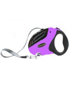 Petsworld Cool Buo Retractable Adjustable Leash for Dogs Purple Medium