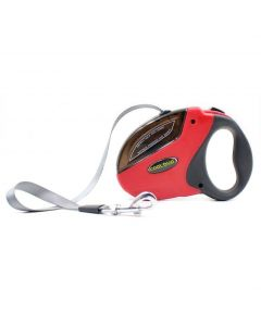 Petsworld Cool Buo Retractable Adjustable Leash for Dogs Red Medium