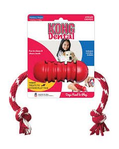 Kong Dental With Rope Small Dog Toy