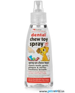 Petkin Dental Chew Toy Spray Bacon Flavor 120 ml