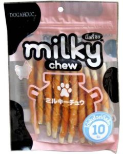 Dogaholic Milky  Chew Chicken Stick  Dog  Chew Treats 10 Pcs