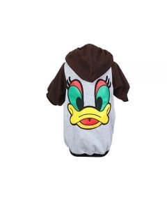 Petsworld Winter Donal Duck Hoodie For Dogs Size 22 Brown
