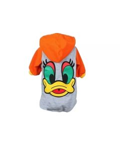 Petsworld Winter Donal Duck Hoodie For Dogs Size 14 Orange