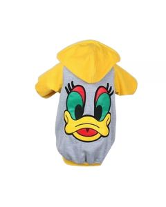 Petsworld Winter Donal Duck Hoodie For Dogs Size 16 Yellow
