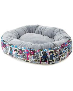 Petsworld Donut Bed For Dog Grey Small