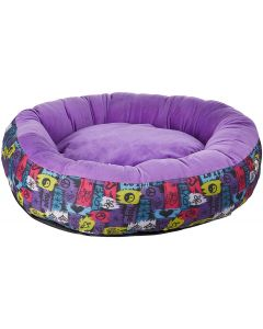 Petsworld Donut Bed For Dog Purple Medium